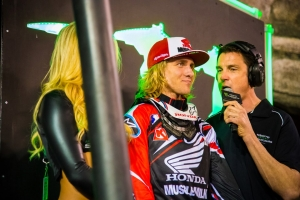 Justin Barcia grabbed third place at Anaheim 3 with fast and mistake-free riding