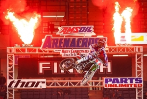 Babbitt's Monster Energy/Amsoil Kawasaki's Bowers Retains the AMA Arenacross Points Lead