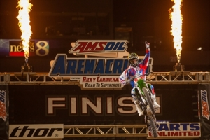 Babbitt's Monster Energy/Amsoil Kawasaki's Bowers Sweeps Grand Rapids Arenacross