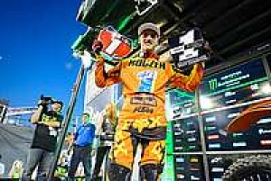 Ken Roczen secured KTM's first Monster Energy AMA West 250SX title in the season finale at Sam Boyd Stadium