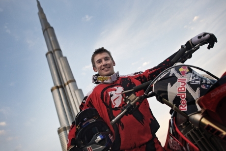 Red Bull X-Fighters/ FMX World tour starts in Dubai/ Warm-up jump for $1 million tour